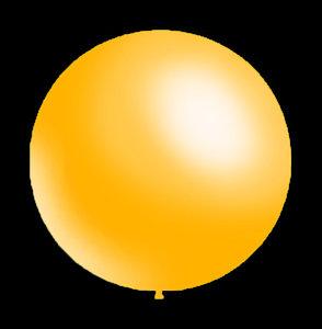 DECORATIEVE-BALLONNEN-28CM-METALLIC GEEL