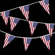 vlaggenlijn amerikaanse vlag