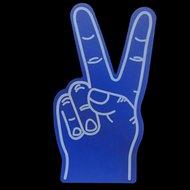 GROTE FOAM HAND PEACE BLAUW